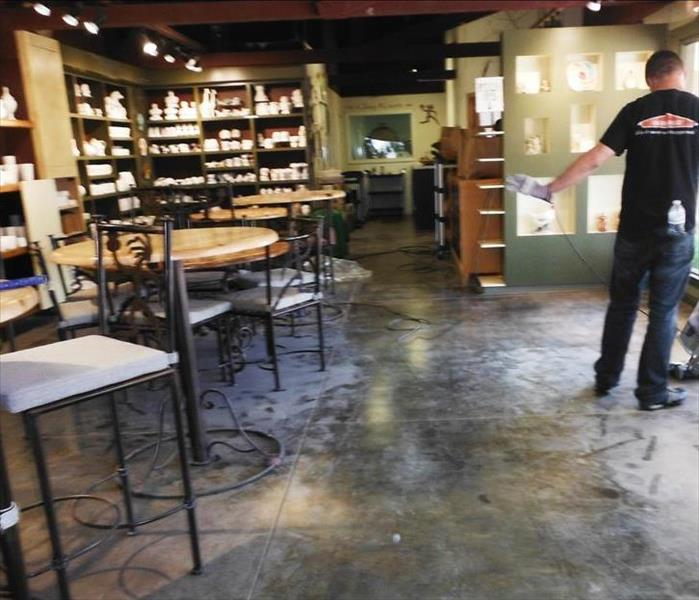 Specialty cleaning at a retail shop in Pasadena, CA Before
