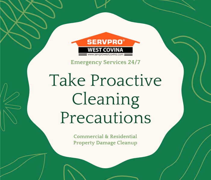 Flyer reminding everyone to take proactive cleaning precautions