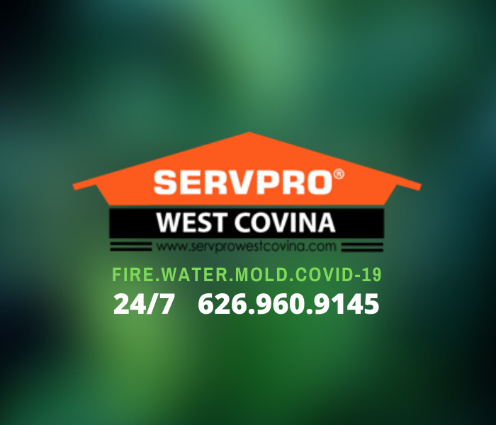 Our signature orange house logo for SERVPRO of West Covina