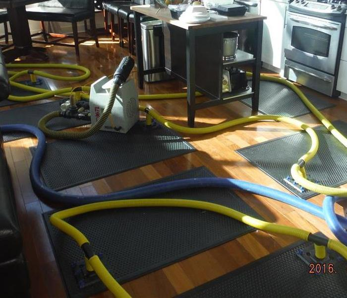 Water Damage Saving hardwood floors in our Socal community, plank by plank…